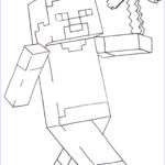 Minecraft Coloring Page Beautiful Gallery Minecraft Steve Coloring Pages Printable