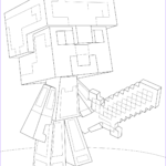 Minecraft Coloring Page Beautiful Photography Minecraft Steve Diamond Armor Coloring Page