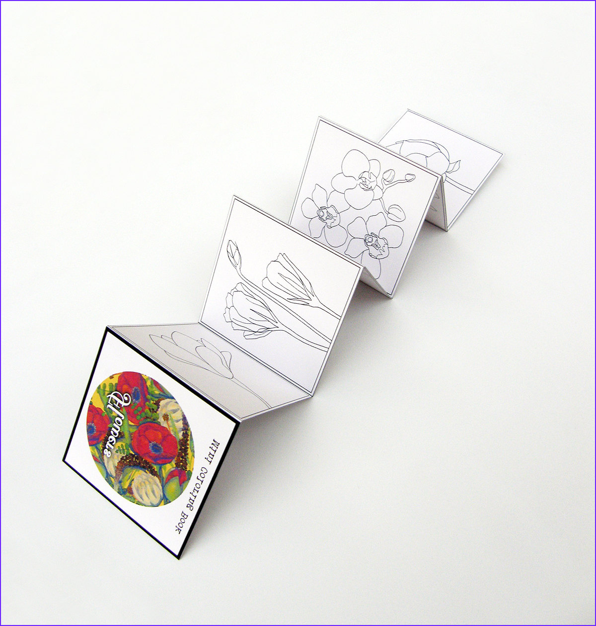mini adult coloring book flowers pocket