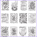 """Mini Adult Coloring Books Luxury Photography Artplay Watercolor Paper Mini Coloring Book 4""""x6"""" 12 Pages"""