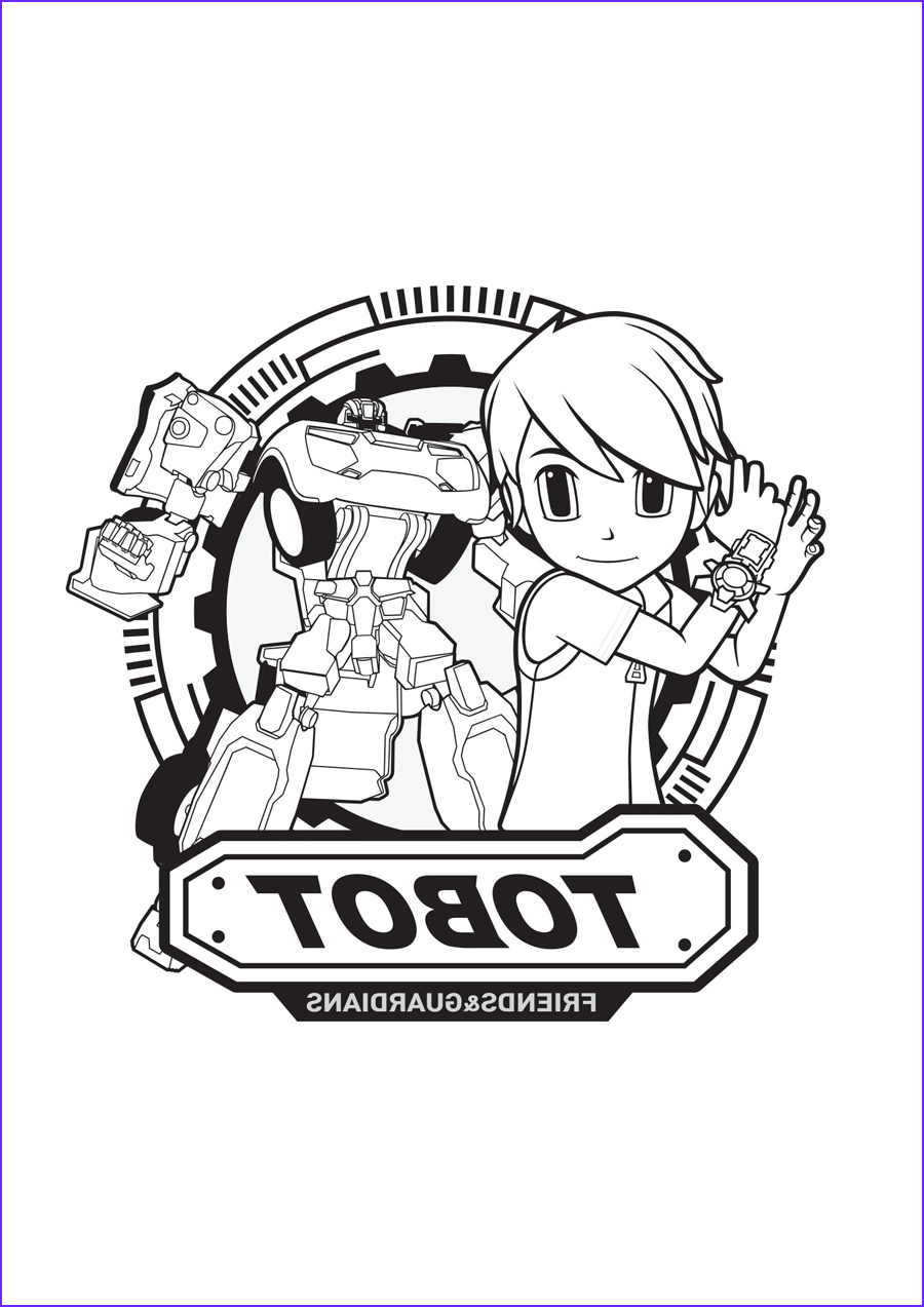 tobot coloring pages