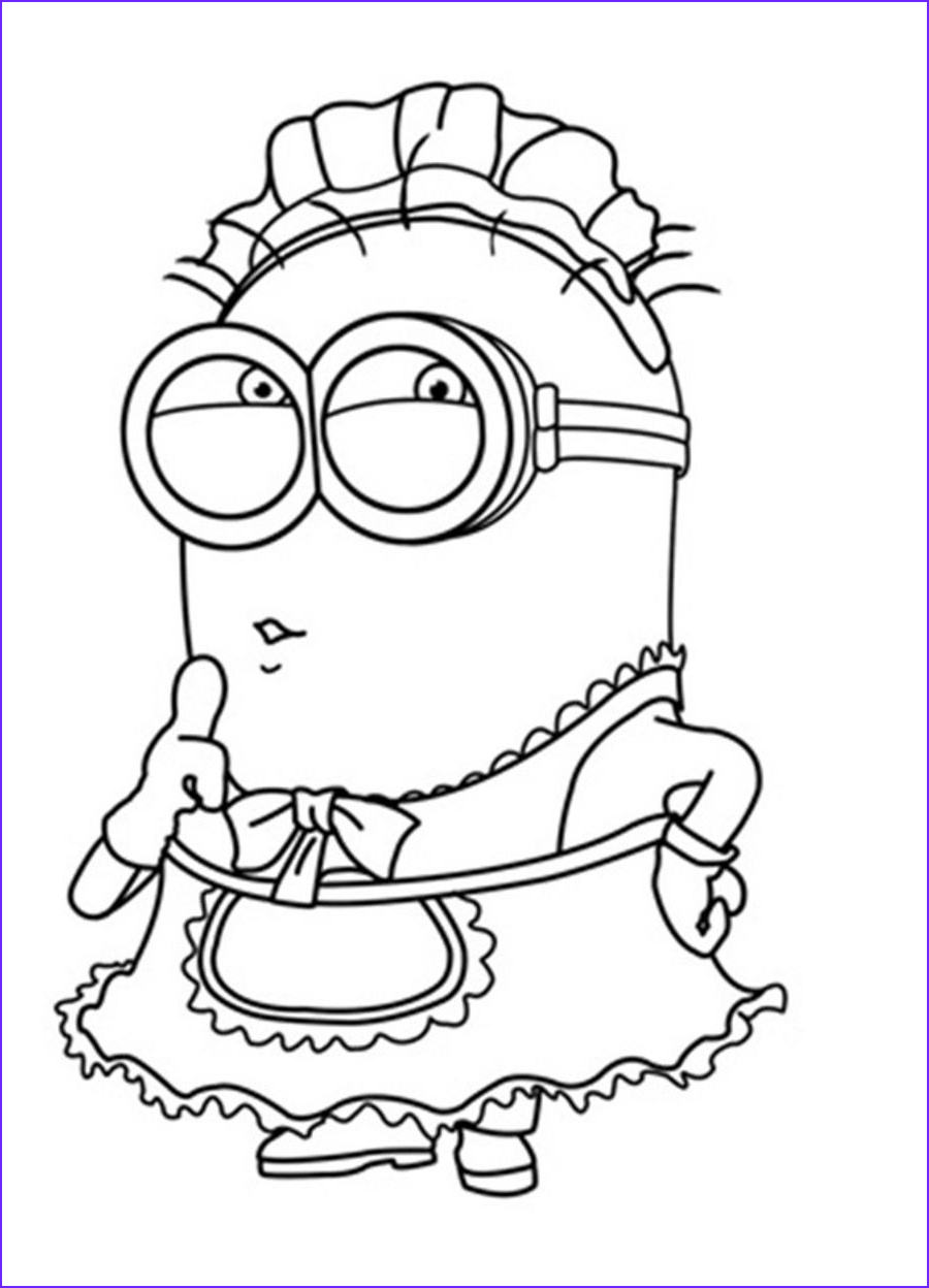 Minion Coloring Page Awesome Collection Cartoon Coloring Despicable Me Coloring Pages Free Minion