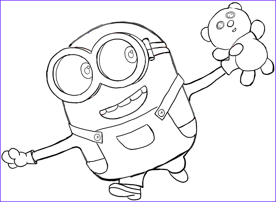 Minion Coloring Page Awesome Photos Minions Coloring Pages Bob Coloring Home
