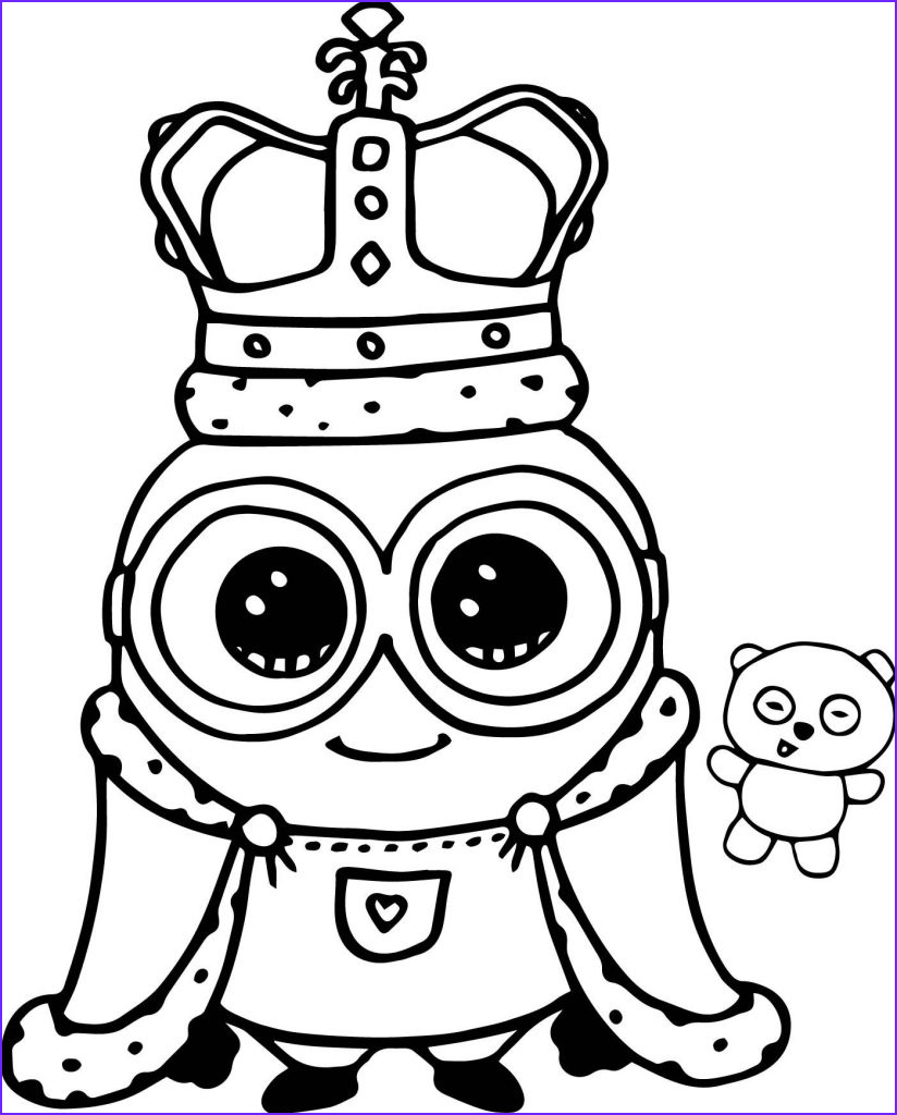 Minion Coloring Page New Collection Cute Coloring Pages Best Coloring Pages for Kids