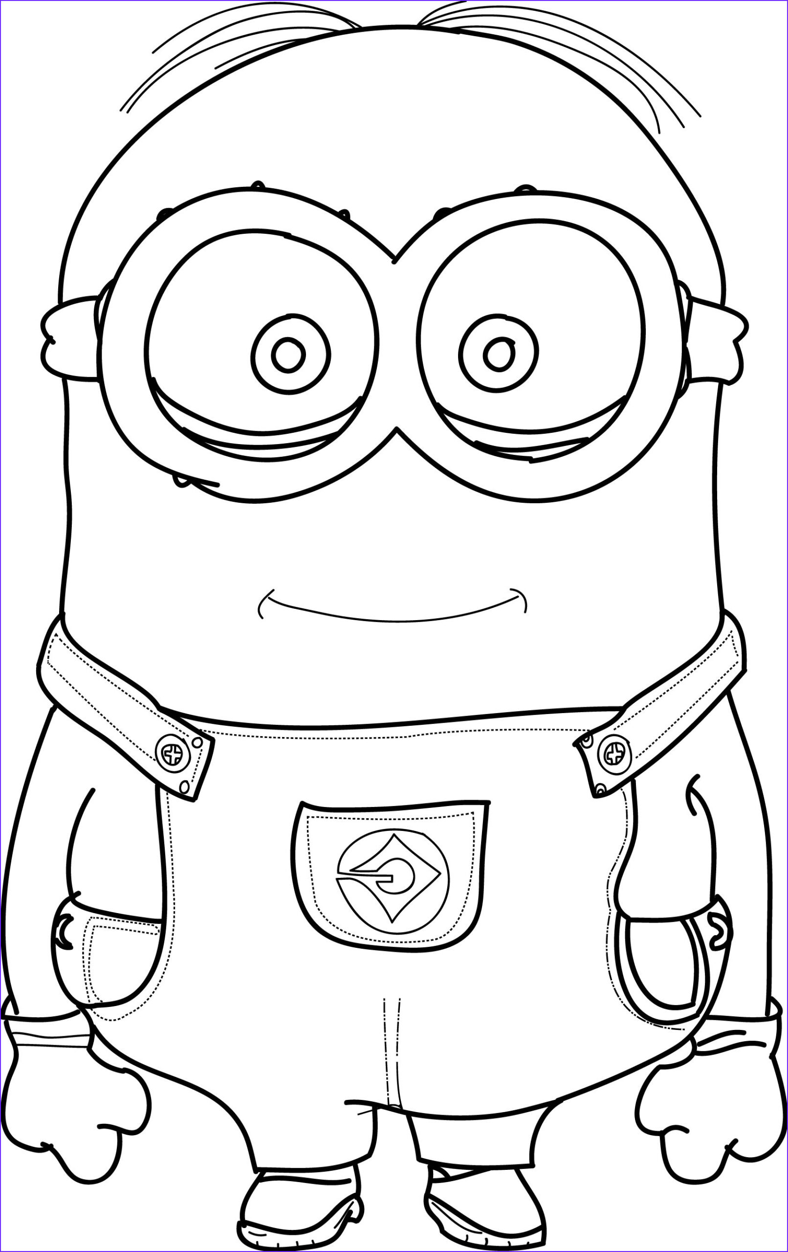 minion coloring pages kevin