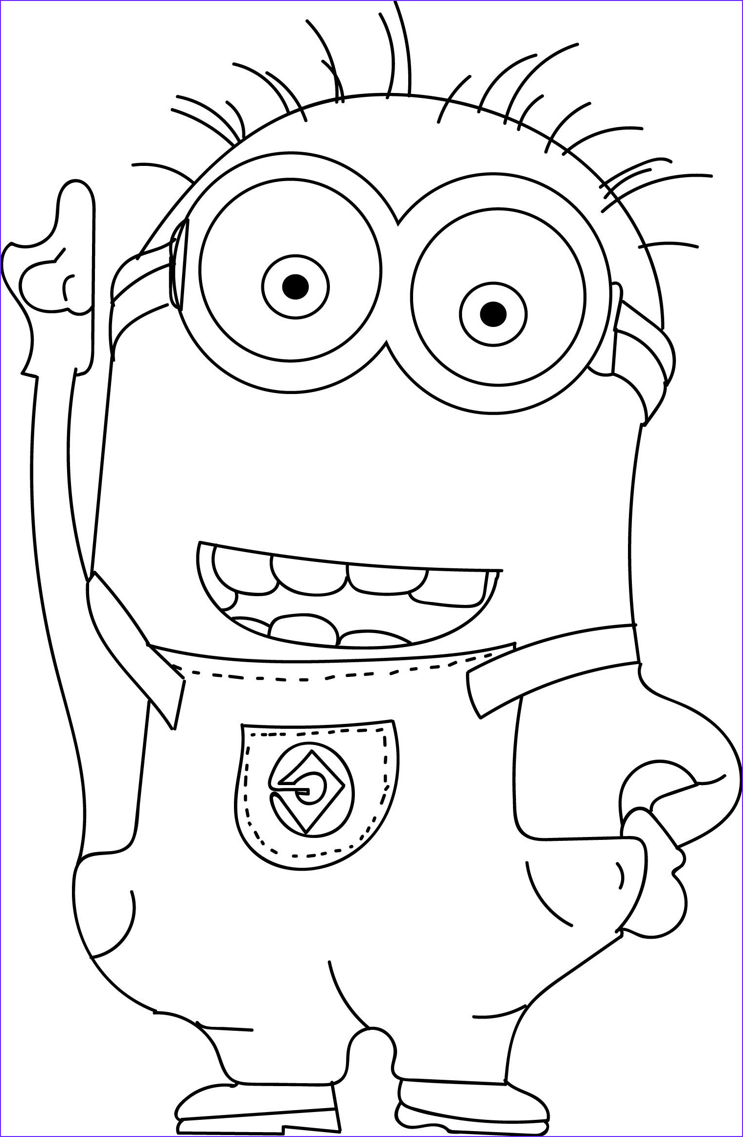 Minion Coloring Pages Pdf New Collection Cool Minions Coloring Pages Check More at