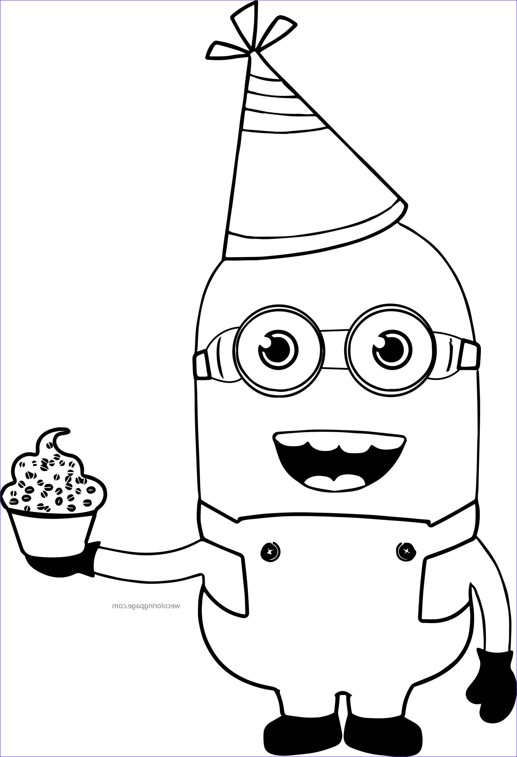 party minions coloring page
