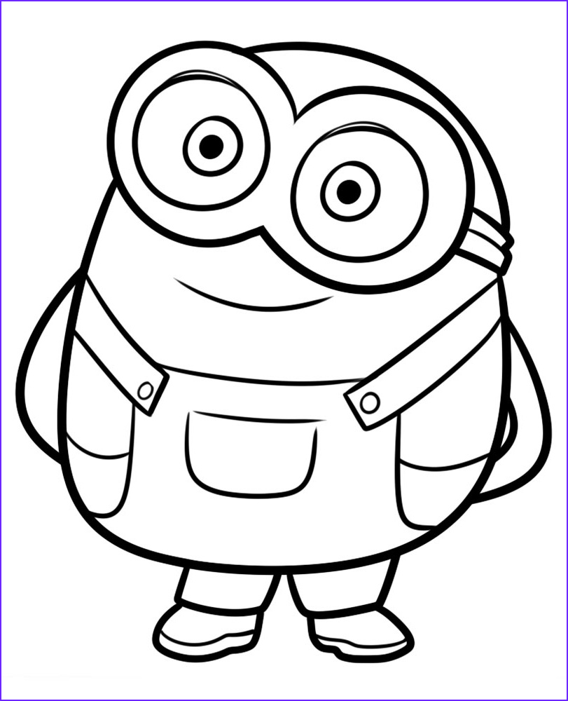 Minion Coloring Sheet Luxury Photos Minion Coloring Pages