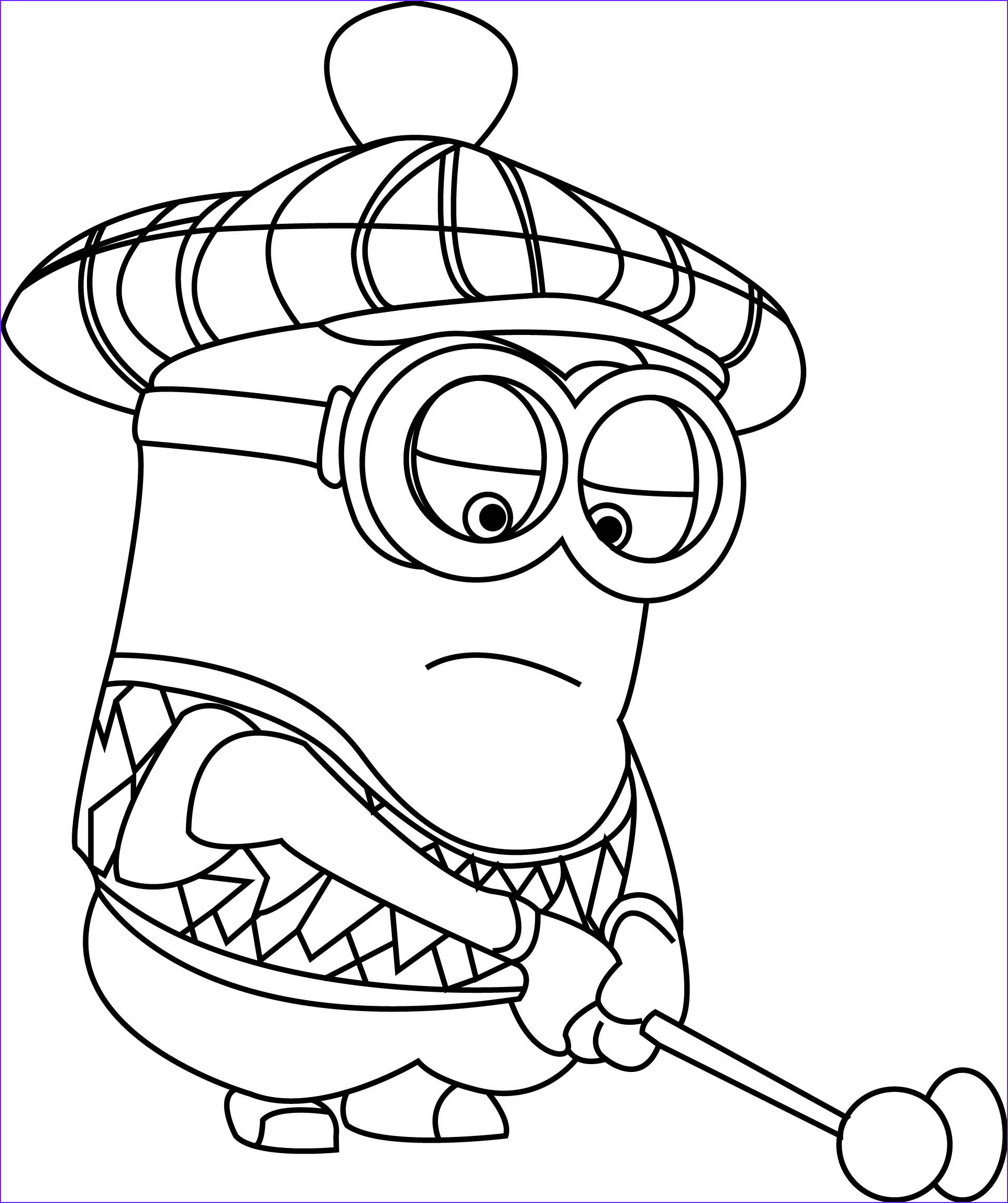 Minion Coloring Sheets Best Of Gallery Despicable Me Golfer Minion Coloring Pages