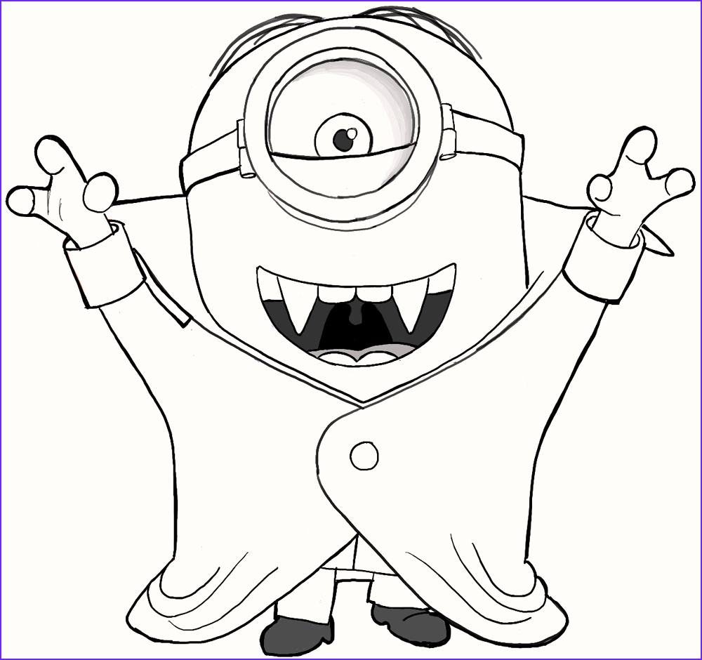 Minion Coloring Sheets Elegant Photography 8 Cute Vampire Minions Coloring Pages