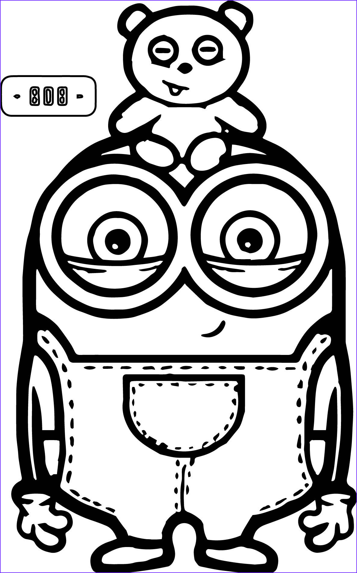 Minion Coloring Sheets New Images Cute Bob and Bear Minions Coloring Page