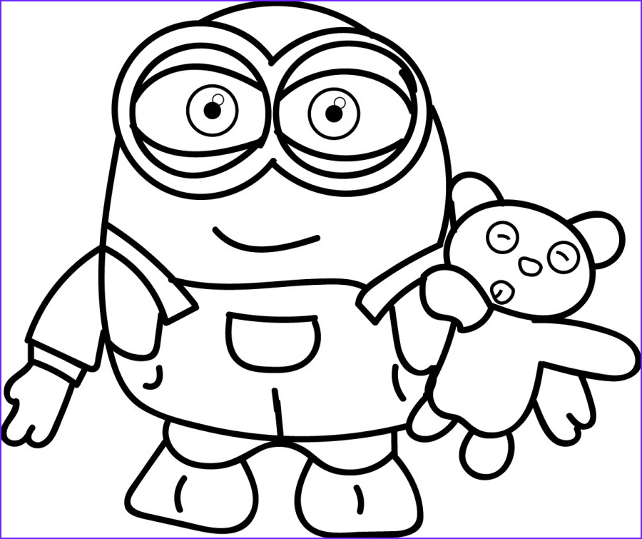 Minions Coloring Page Awesome Images Minion Coloring Pages Best Coloring Pages for Kids