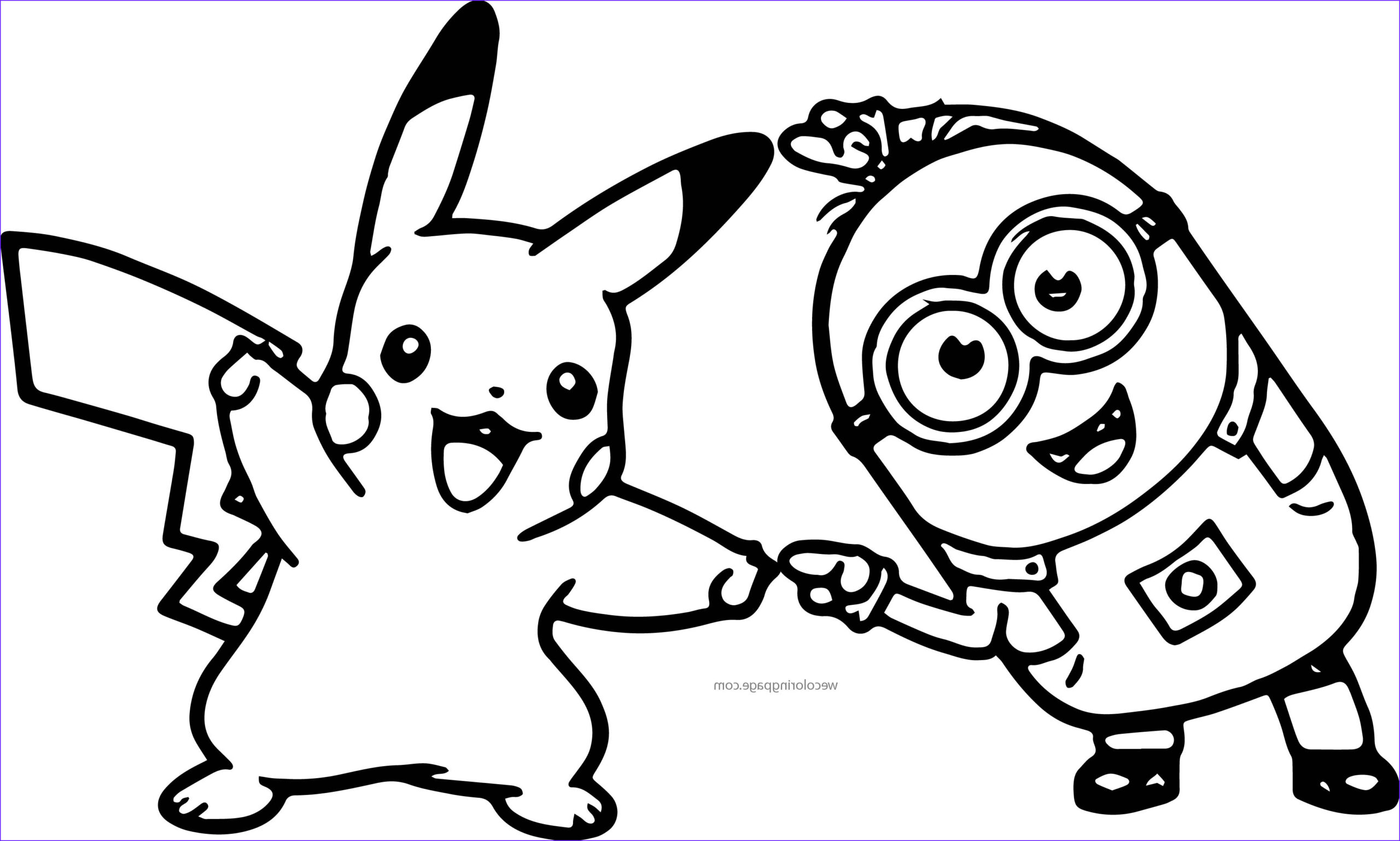 Minions Coloring Page Awesome Photos Minion Pikachu Dance Pokemon Coloring Page