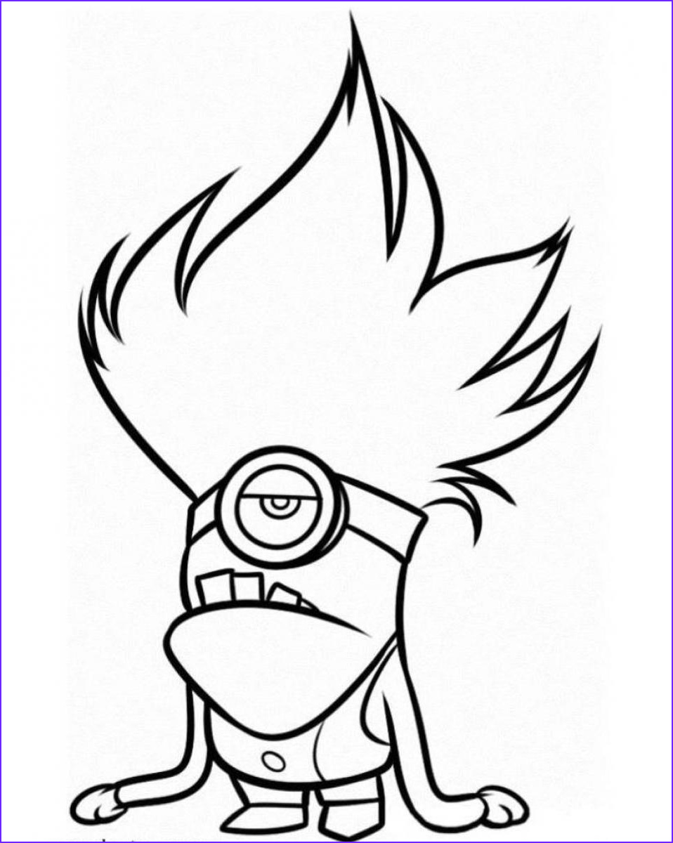 Minions Coloring Page Cool Collection Minion Coloring Pages