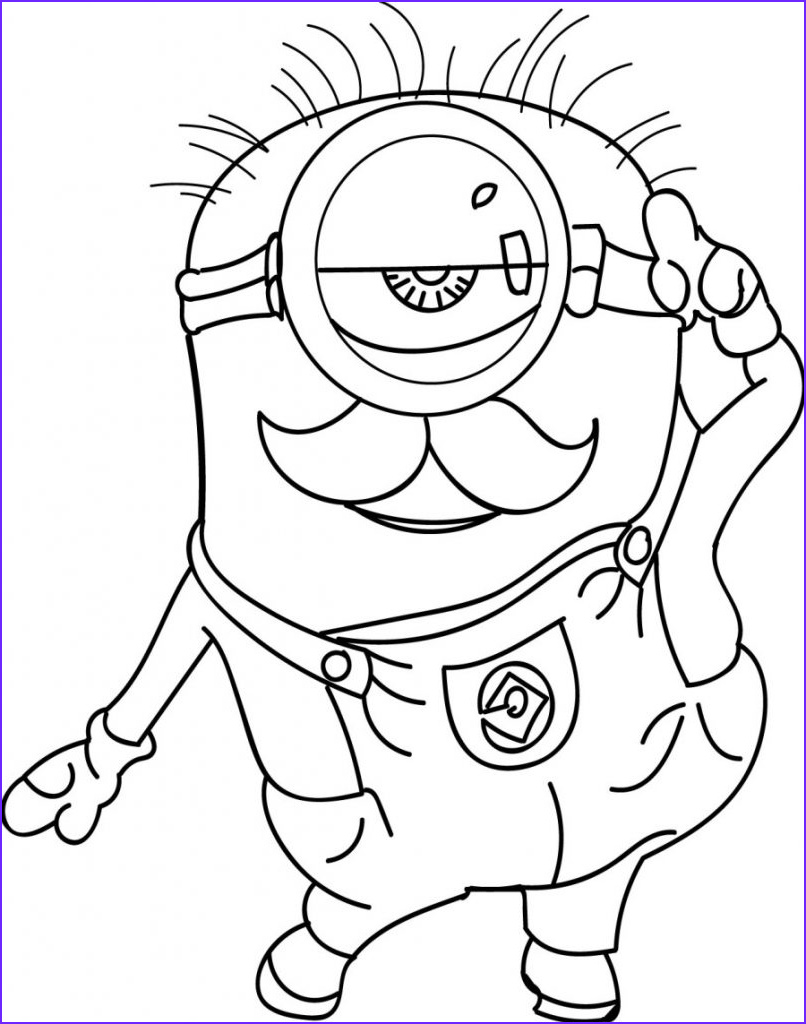 Minions Coloring Page New Photos Minion Coloring Pages Best Coloring Pages for Kids