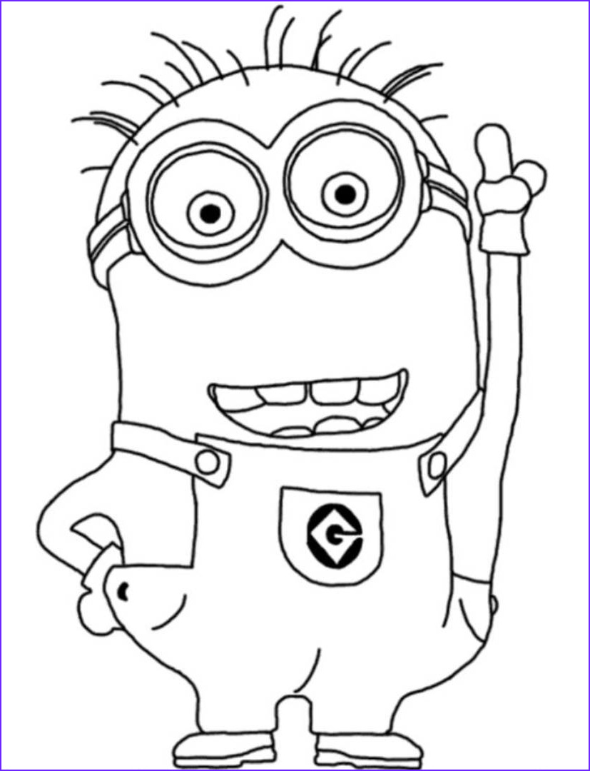 Minions Coloring Pages Cool Images Minion Coloring Pages