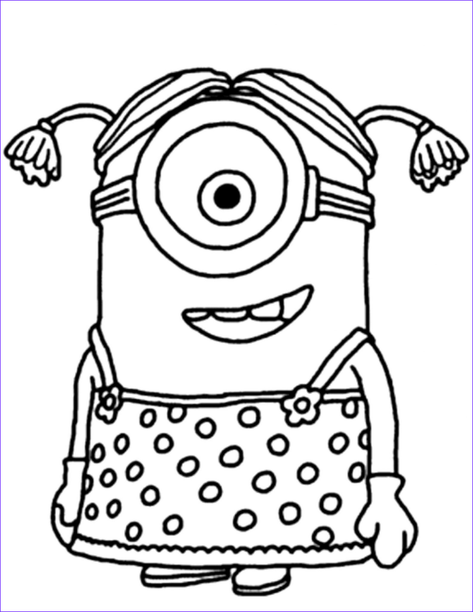minion coloring pages kids fun