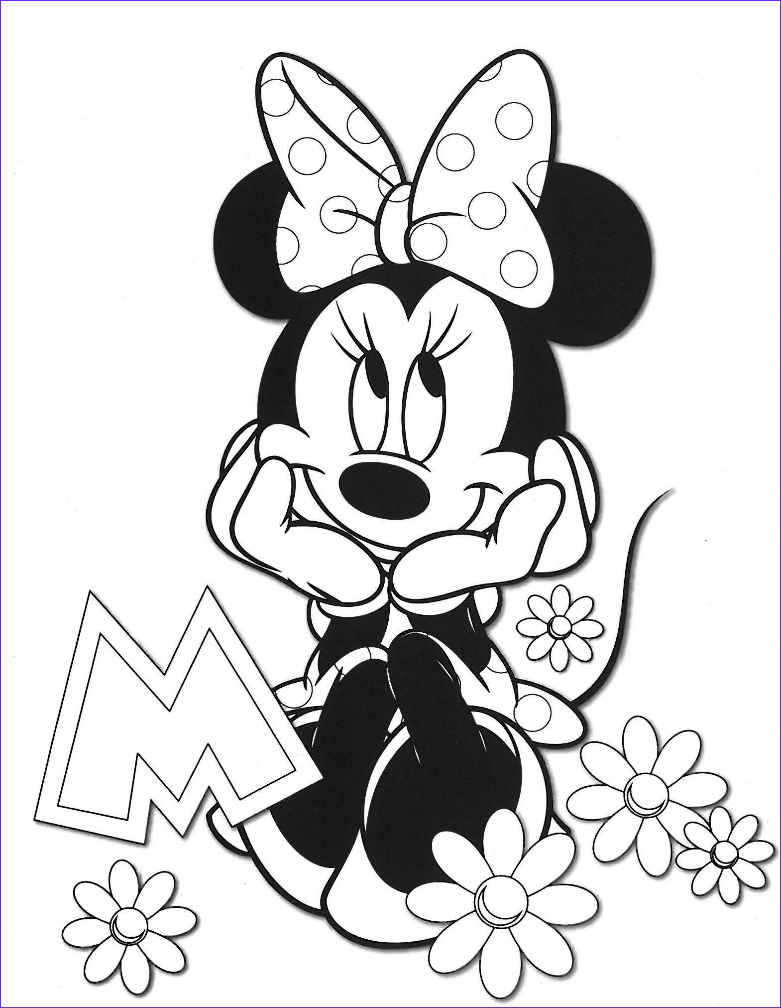 Minnie Mouse Coloring Luxury Collection Minnie Minnie Baby Pinterest