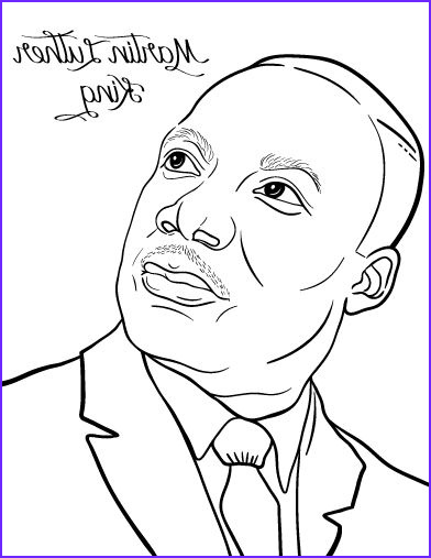 45 Beautiful Images Of Mlk Coloring Page