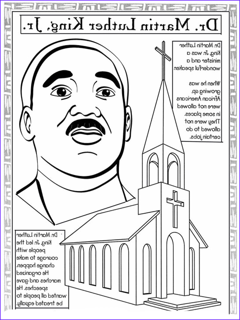 martin luther king jr coloring pages worksheets