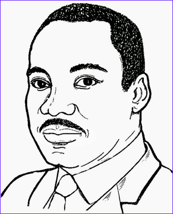 print martin luther king jr coloring