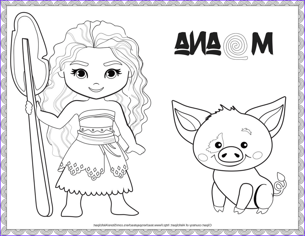 Moana Coloring Awesome Photography Exclusive Free Disney Moana Printables