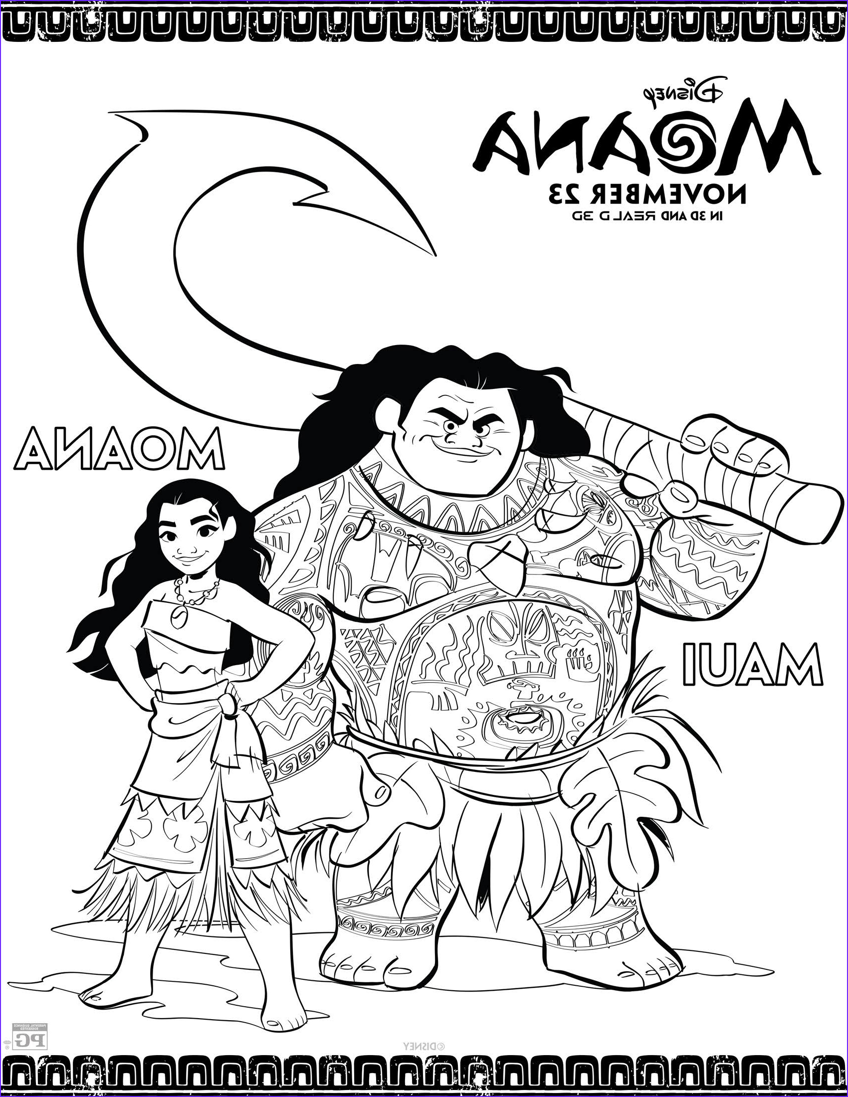 Moana Coloring Inspirational Images Disney S Moana Coloring Pages and Activity Sheets Printables