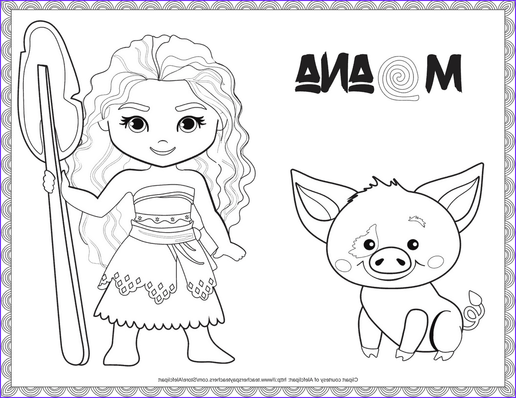 Moana Coloring Pages Disney Beautiful Photos Exclusive Free Disney Moana Coloring Printable · the