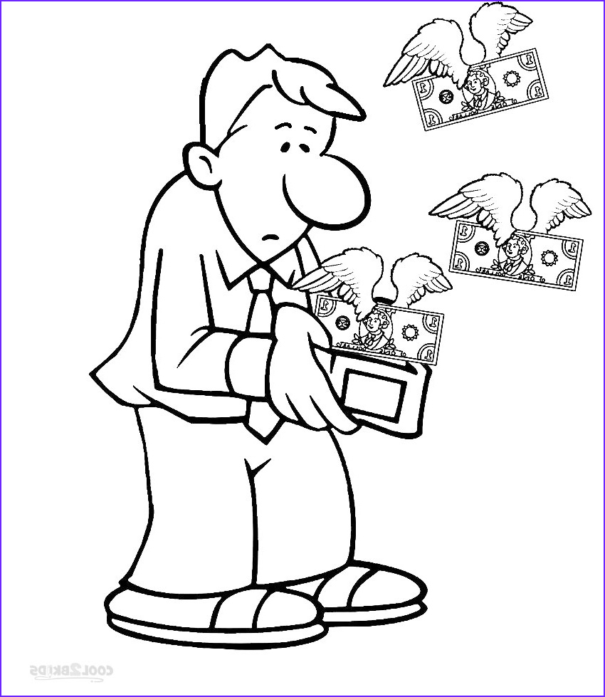 Money Coloring Sheets Awesome Images Printable Money Coloring Pages for Kids