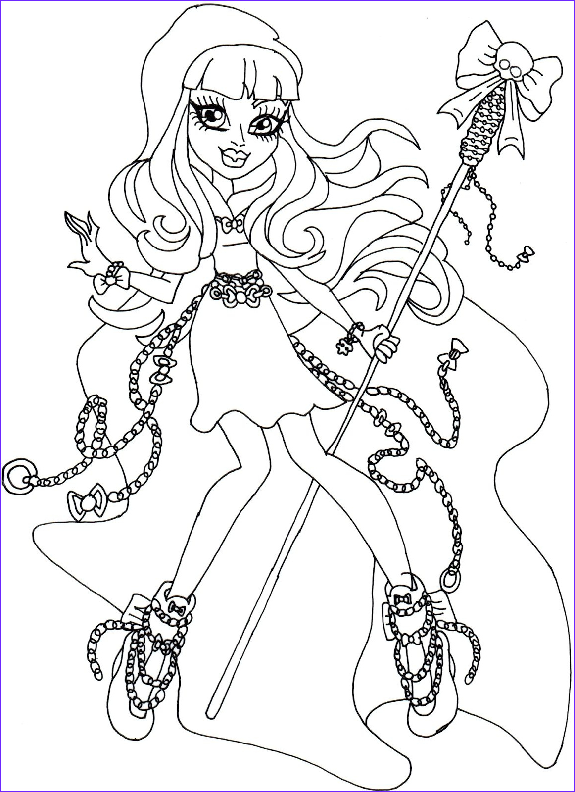 river styxx monster high coloring page