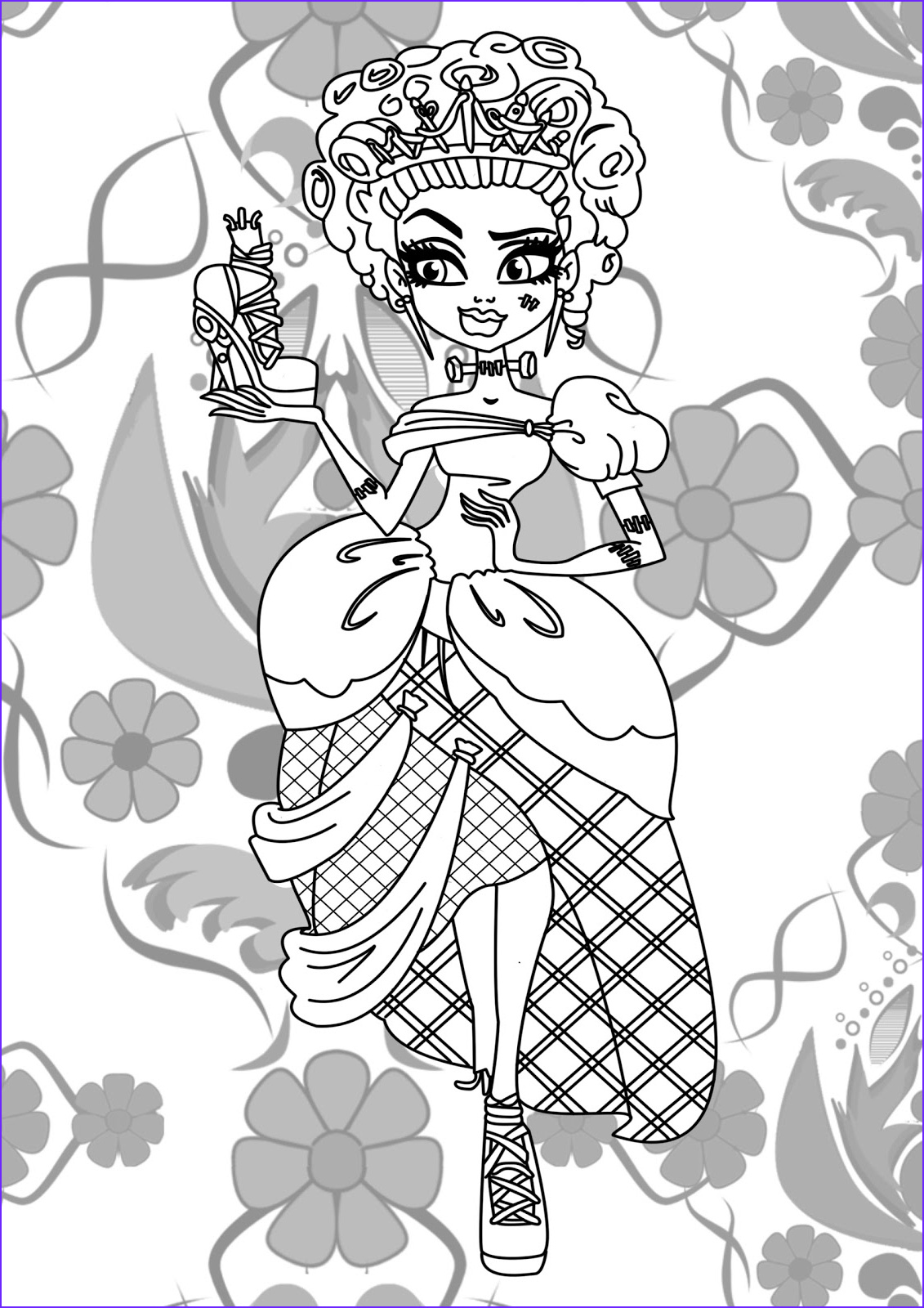 Monster High Coloring Book Best Of Image Monster High Jinafire Long Coloring Pages Free Printable