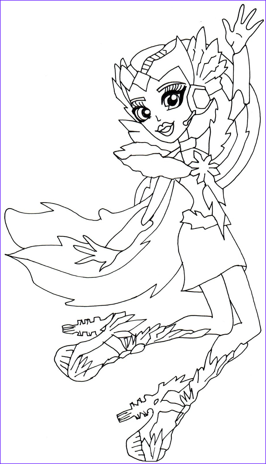 astranova monster high coloring page