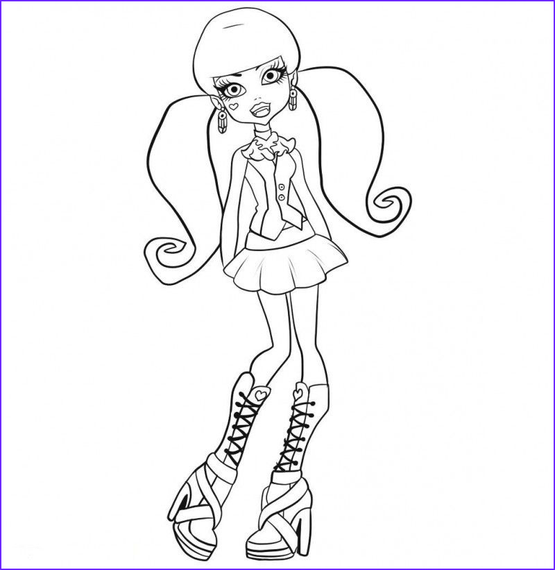 Monster High Coloring Pages Pdf Beautiful Collection Monster High Skelita Coloring Pages At Getcolorings