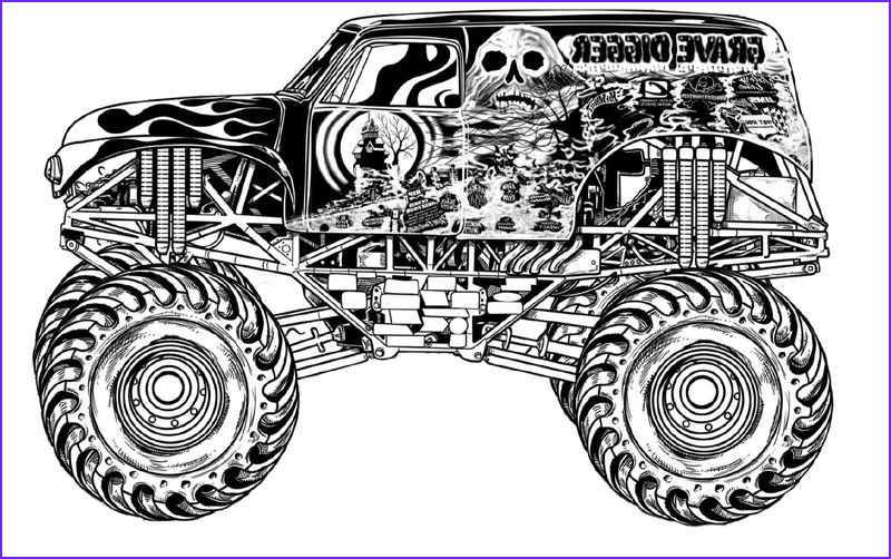 Monster Truck Coloring Book Awesome Stock Download Grave Digger Monster Truck Coloring Pages