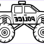 Monster Truck Coloring Book Cool Stock Police Monster Truck Coloring Book For Kids