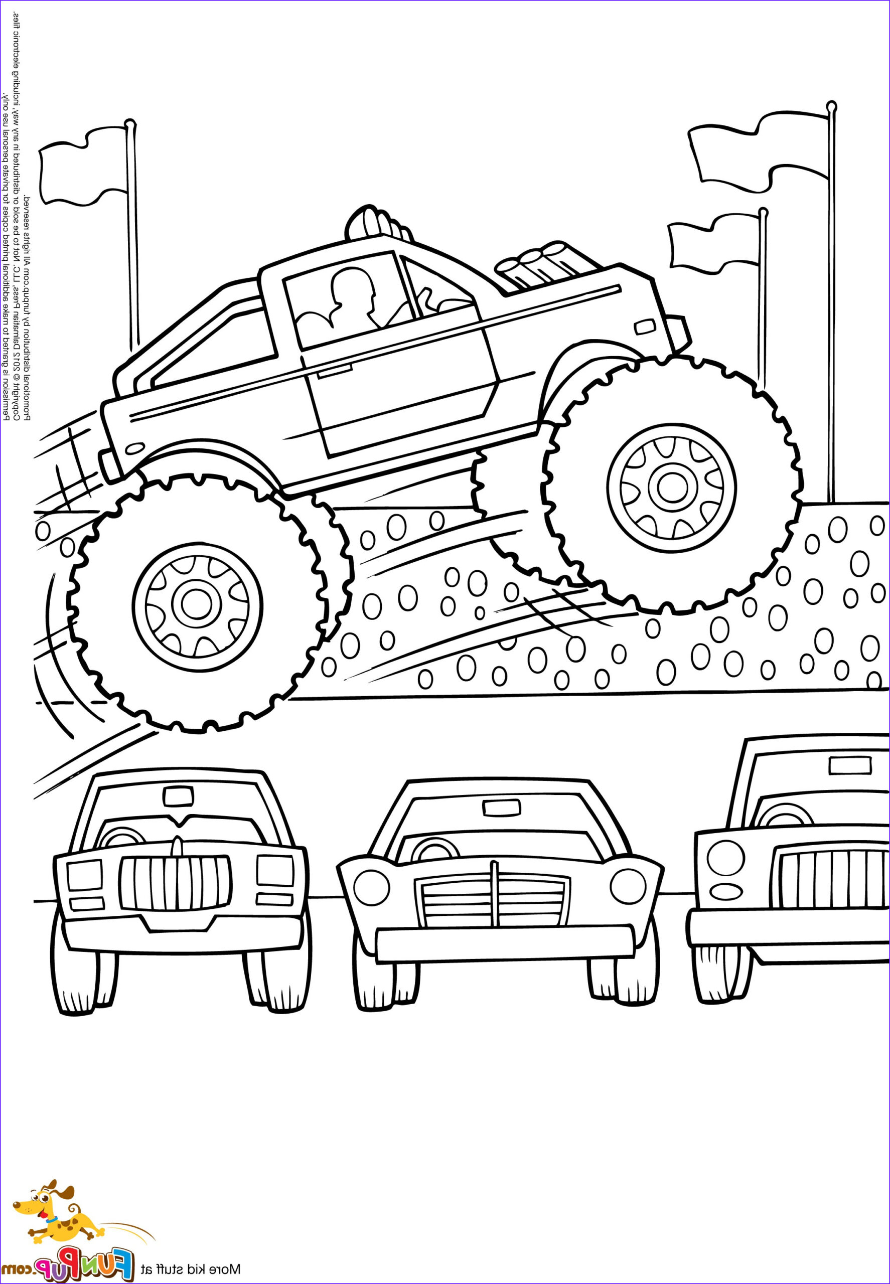 grave digger monster truck drawing