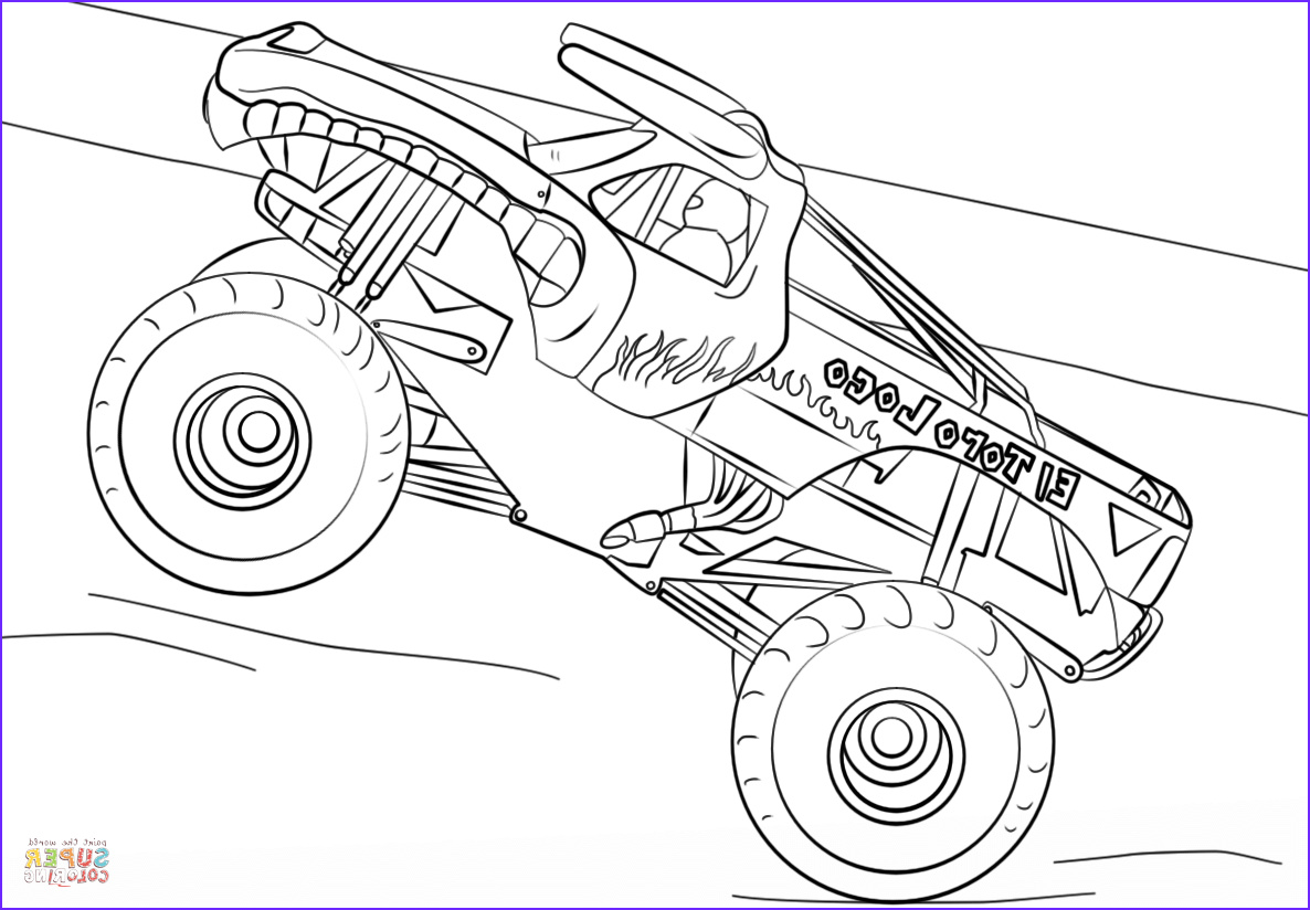 Monster Truck Coloring Book Inspirational Image El toro Loco Monster Truck Coloring Page