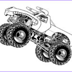 Monster Truck Coloring Book Luxury Photos Monster Jam Jumping Horned Truck Coloring Pages