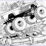 Monster Truck Coloring Pages Awesome Image Free Printable Monster Truck Coloring Pages For Kids