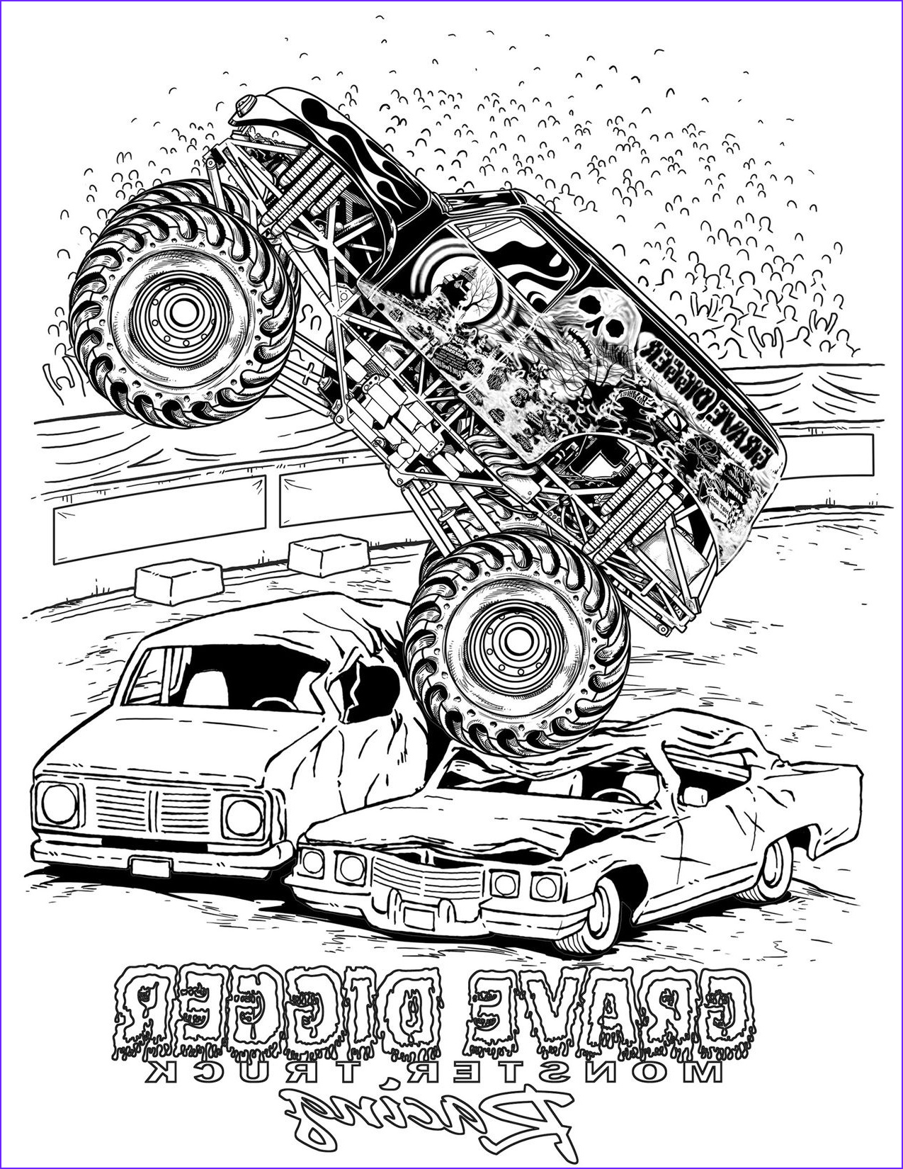 Monster Truck Coloring Pages Awesome Photos Monster Truck Coloring Pages Letscoloringpages Grave