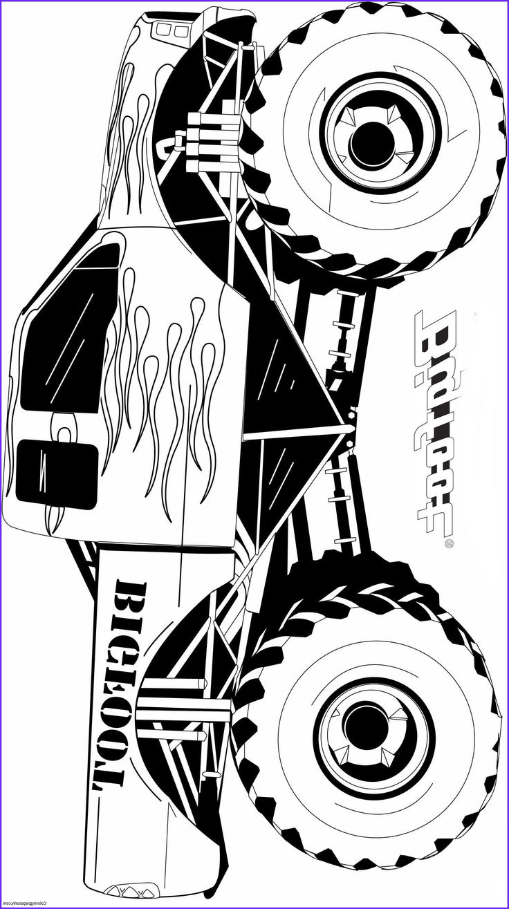 coloriage monster truck grave digger