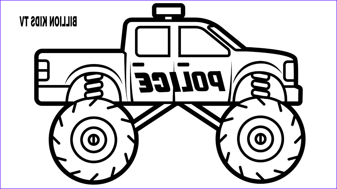 Monster Truck Coloring Pages Beautiful Photos Police Monster Truck Coloring Book for Kids
