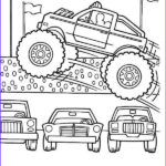 Monster Truck Coloring Pages Best Of Image Monster Truck Monster Truck Jumps Over Cars Coloring