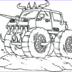 Monster Truck Coloring Pages Elegant Images Monster Trucks Drawing At Getdrawings