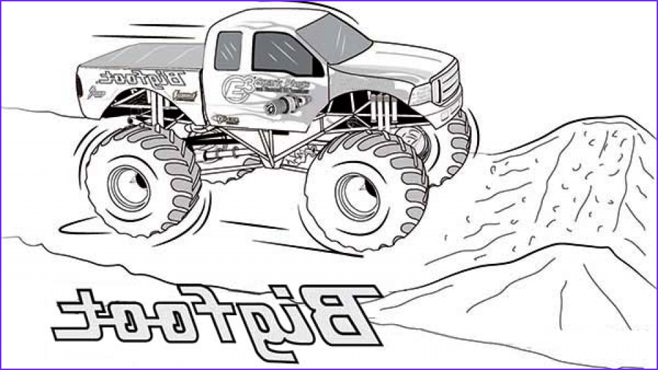 Monster Truck Coloring Pages New Photography 20 Free Printable Monster Truck Coloring Pages