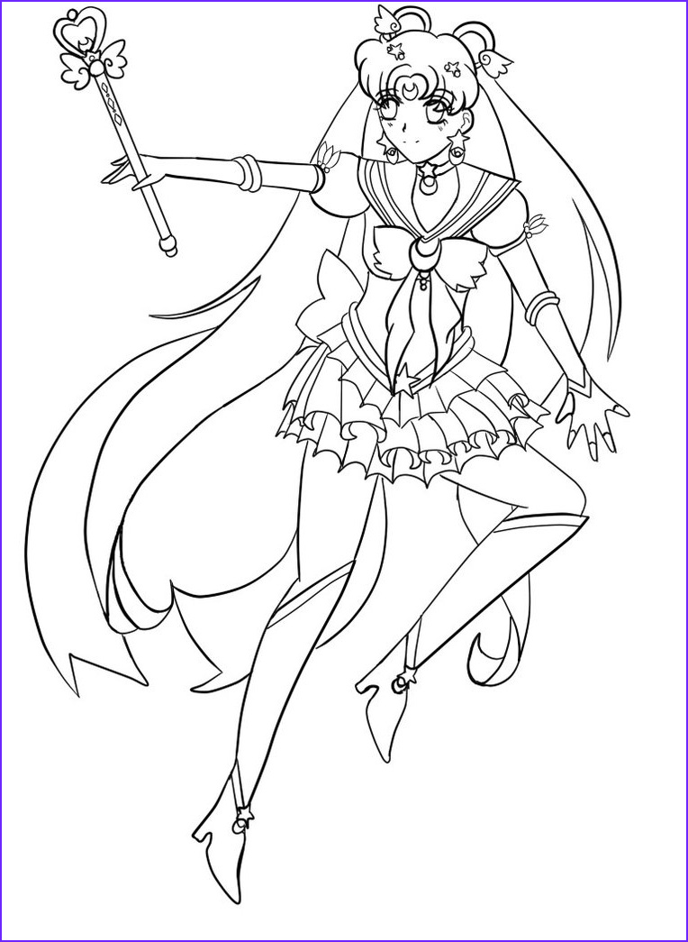 Moon Coloring Pages Beautiful Collection Free Printable Sailor Moon Coloring Pages for Kids