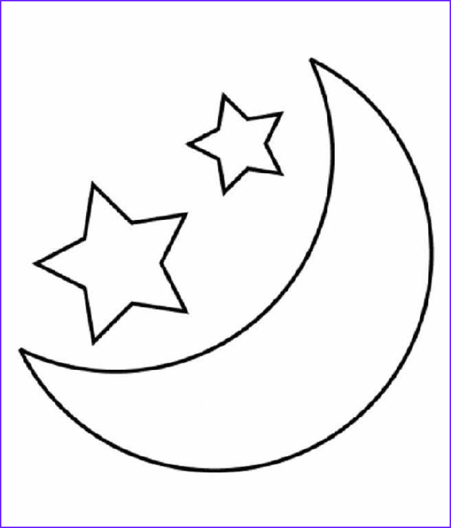 Moon Coloring Pages Beautiful Photos Child Moon and Stars Coloring Pages Printable
