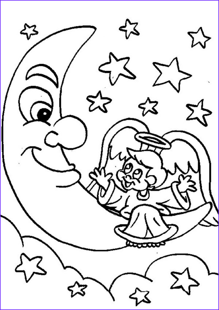 Moon Coloring Pages Inspirational Collection Free Printable Moon Coloring Pages for Kids Best