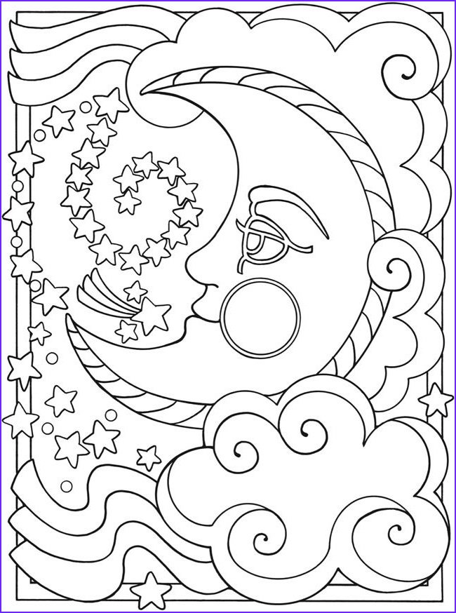 Moon Coloring Pages Luxury Image Free Printable Moon Coloring Pages for Kids Best