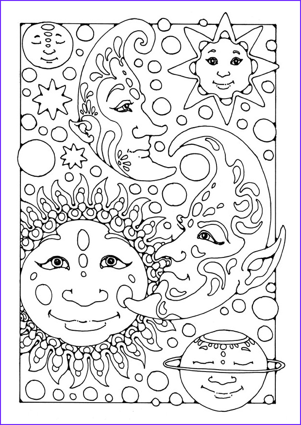 Moon Coloring Pages Unique Gallery Free Printable Moon Coloring Pages for Kids Best